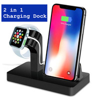 ingrosso stazione di guardia di mele-2 in 1 caricatore per base docking per stazione di ricarica Dock Station Supporto per iPhone X 8 7 6S Plus Dock per Apple Watch Charge