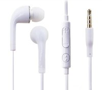 Wholesale Headphones Android Control - S4 S6 j5 Stereo Headsets In Ear Earphone with Mic and volume control Headphones for Samsung Galaxy Universal for Android phones iphone 2pc