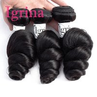 india suelta rizo cabello virgen al por mayor-Igrina Raw Indian cabello virgen Loose Wave 3 Bundles Deals Loose Curls sin procesar armadura de cabello humano Bundles Indian Loose Wave extensiones de cabello