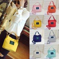 qualität koreanische leinentasche großhandel-Gute Qualität Neue Dame Canvas Handtasche Mini Einzelner Schulterbeutel Crossbody Messenger Bags Frauen Beuteltasche Korean Luxus Frauen Tasche