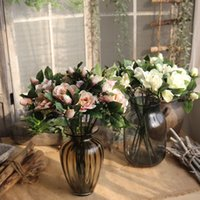 fleurs en soie de bonne qualité achat en gros de-Artificiel Gardenia Fleurs Vivid Silk Flower pour la Fête De Mariage Décoration De La Maison De Bonne Qualité Fake Flower Bouquet