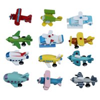 Wholesale wooden airplanes - Set of 12 Wooden Airplane Model Educational Toys