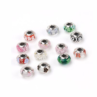 Wholesale millefiori murano glass bracelets - Fashion 925 Sterling Silver Bracelet Charm fit Pandora Silver Bangle Bracelets Jewelry DIY Making Murano Glass Charms