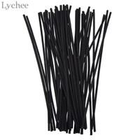 palos de caña de ratán al por mayor-Lychee Black Rattan Reed Replacement Recambio Sticks Rattan Volatilizating Aceite esencial Home Party Decoraciones Aromatic Sticks