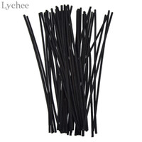 Wholesale rattan sticks resale online - Lychee Black Rattan Reed Replacement Refill Sticks Rattan Volatilizating Essential Oil Home Party Decorations Aromatic Sticks