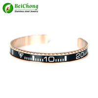 armband wolfram großhandel-Tacho Offizielle Armreif Rose Gold Top Qualität 316L Edelstahl Wolfram Manschette Armband für Männer