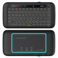 Wholesale mouse linux for sale - H18 H20 GHz Mini Wireless Keyboard RGB Backlit Full Screen Touchpad Mouse Combo For Windows Android MAC OS Linux