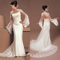 Wholesale wedding wear price resale online - Unique Wedding Bolero with Long Sleeves Lace Wedding Top Simple but Useful Dress Accessories Formal Wear New Arrival Hot Sale cheap Price