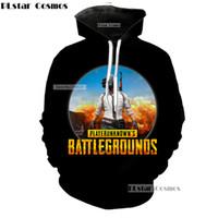 Wholesale Funniest Videos - PLstar Cosmo funny global fire video game PUBG scenario Hoodies 3D Print Pullovers Sportswear Sweatshirts Hooded