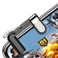 Wholesale Mobile Phone Wireless game controller Pair Left Right Phone Gamepad Trigger Fire Button Sensitive Shoot For IOS Android