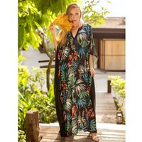 1f7ce4035c896 Black Maxi Dress Beach 2018 Summer Women Gothic Clothes Hippie Boho Dresses  Plus Size Woman V Neck Print Hippie Clothes Bohemia Long Dress