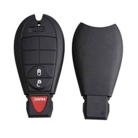 2Xfor Chrysler Jeep Dodge Ram Keyless Remote Car Entry Key Fob Shell Pad Case 3b