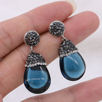 8d39ff29a442 5 Pares Estilo Mexicano Piedra Natural Pendiente de Gota Pequeños Granos  Del Encanto Gemas Negro Azul Piedra Pendiente Joyería de Pendiente para Las  Mujeres
