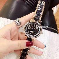 женские водяные часы оптовых-Люксовый бренд женские часы Женщины Повседневная часы полые Япония движение наручные часы для леди девушки водонепроницаемые часы relojes mujer 2018
