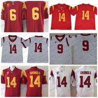 nouveaux chevaux de troie achat en gros de-NCAA USC Trojans 14 chandails de football Sam Darnold College Sam Darnold Jersey cousu