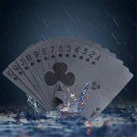 ingrosso carte da gioco nere-TG0020 Carte da gioco con carte da gioco standard da poker Black Diamond impermeabili spedizione gratuita