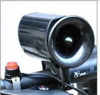 siyah boynuz düğmeleri toptan satış-Siyah Bisiklet Kornalar Plastik Ultra Loud Bisiklet Trompet Kırmızı Düğme Ile Çekmek Akşam Bisiklet Bell 6 Sesler Su Geçirmez Tasarımcı 5 9tj ZZ