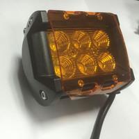 coche conducido luces de carretera al por mayor-Luz de trabajo LED barra a prueba de polvo cubiertas protectoras ámbar claro Negro Rojo Blanco color de la cáscara de campo a través SUV ATV Car-estilo