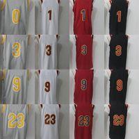 Wholesale ordering roses - Mens 2017-18 Season 23 LeBron James 9 Dwyane Wade 1 Derrick Rose 3 Isaiah Thomas 100% Stitched Basketball Jerseys S-3XL Mix Order