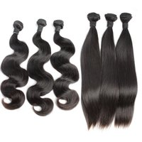 Wholesale amazing hair weave online - Brazilian Body Wave Virgin Remy Human Hair Weaves Unprocessed Hair Straight Hair Extensions Weft Amazing yourself Bellahair A