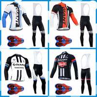 Wholesale giant team cycling bicycle jerseys for sale - 2018 pro team GIANT Men Long Sleeve Cycling Jersey Breathable Bicycle Clothing Quick Dry Ropa Ciclismo Mountain Bike Wear J