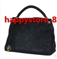 bolsos de flores negro al por mayor-Nueva moda de alta calidad de la PU bolsos de cuero de las mujeres famosas diseñadores negros tote bolsas con bolsa de polvo M40249