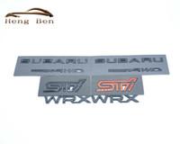 parlak metal toptan satış-HB 3D Mükemmel Pürüzsüz Parlak Metal Rozeti STI Subaru STI WRX için Araba Amblem Rozeti Sticker Styling Aksesuarları