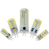 luzes g8 venda por atacado-Diodo emissor de luz G9 G4 Diodo emissor de luz E11 E12 14 E17 G8 Diodo emissor de luz Lâmpadas 110V 220V Holofotes 3014 SMD 64 152 Leds luz Sillcone Corpo para lustres