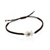 Wholesale black pearl designs - 2018 Titanium Steel Pearl Shell Bear Bracelet New Black Braided Rope Women Design Adjustable Nope Bear Charm Pendant Jewelry for Women Gift