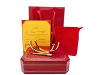 brazaletes indios envío gratis al por mayor-Pulseras de amor de moda 16 cm 17 20 cm pulsera de oro rosa de plata Brazaletes Mujeres Hombres Tornillo Destornillador Pulsera Joyería de pareja con original