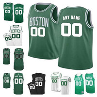 Wholesale numbers vests - Wholesale New basketball Jersey customize Any number any name Custom Mens Youth Women Stitched Personalized Green Black White vest Jerseys