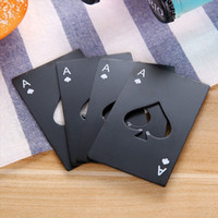 Wholesale play wallets - Stainless Steel Bottle Opener,Bar Cooking Poker Playing Card of Spades Tools,Mini Wallet Credit Card Openers GGA112 200PCS