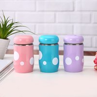 Wholesale pattern office online - Practical Lovely Water Bottles Stainless Steel Speckle Pattern Mushroom Cup For Office Worker And Students Tumbler Top Quality wy CB
