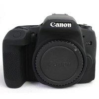 vaka davaları toptan satış-Yüksek Kalite Renkli Silikon Kamera Kapağı Canon EOS 77D için Yumuşak Kauçuk Kamera Kılıfı Cilt Canon 77D SLR Kamera Kılıf Çanta
