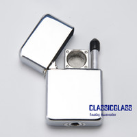 Wholesale Printed Lighters - Lighter Pipe Without Printing Designs Metal Pipe Easy To Take 1 Pc Opp Bag 10 Pcs Inner Box