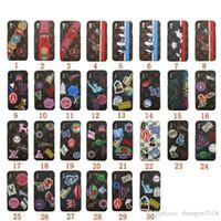 ingrosso guscio di animali indietro-Per iPhone XS MAX design del marchio della cassa Stampato nuova cassa del telefono animale faccia Shell per iphone X 7 7plus 8 8plus 6 6s 6plus copertura posteriore rigida