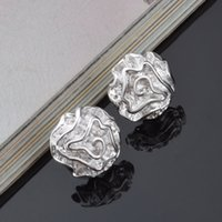 Wholesale wholesale date stamps - 2018 New coming 925-sterling-silver stud earrings for women wedding jewelry earring lady girl gift hot sale with 925 stamp E16