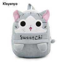 4f66c694b542 Klsyanyo Cartoon Cute Kid Animal Cat Plush Toys School BackpacChildren s  gifts Girls Kindergarten School Bag 30.5 24 cm