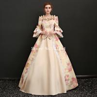 ingrosso vittoriano vintage costumi donne-Costumi di alta qualità in stile vittoriano con stampa vintage