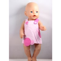 Wholesale Pink Promotional Items - Promotional Items ! Directly Facotry Price 43cm Baby Born Zapf Doll Red And Pink Assorted Colors Suspender Skirts ZD70