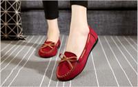 черная ткань китайская обувь оптовых-Китайский Кунг-Фу Обувь Брюс Ли Стиль Ручной Пекин Ткань Обувь Квартиры Мужчины Черный Лодка Обуви Дышащий Отец Обувь Повседневная