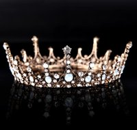 Wholesale Sequin Diamond Hair - The whole circle of silver crown diamond wedding accessories hoop crown