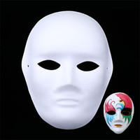 Wholesale white mask painting faces resale online - Diy Childrens Art Painting Masquerade Handmade Pulp White Mold Mask Creative Inspire Imagination Gift Unpainted Thicken Blank Masks xq jj