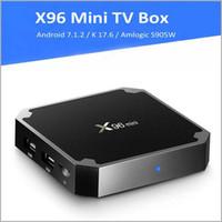 Wholesale X96 mini Android Amlogic S905W Quad Core TV BOX GB GB GB GB Suppot H UHD K GHz WiFi Set top box MQ14