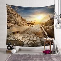 artı boyut havluları toptan satış-Mısır Dekor Goblen Resim Piramit Duvar Asılı Dekorasyon Ev Tekstili Kumaş Yatak Örtüsü Plaj Havlusu Artı Boyutu