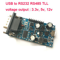 Wholesale tv ic for sale - Group buy Freeshipping USB to RS232 RS485 TLL Serial port output signal v v v microcontroller debing Board CP2102