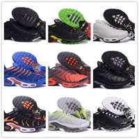 Wholesale bowtie for men - 2018 New Vapormax TN Plus Triple Black White Grape Men Running Shoes For Air Tn Hiking Jogging Walking Outdoor Casual Basket Requin sneakers