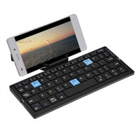 android phone with keyboard 2021 - Freeshipping Keyboards Bluetooth Wireless Foldable Keyboard Rechargeable For IOS Android Windows With Tablet Phone Stands
