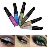 Wholesale Shine Pigment - Makeup Glitter Eyeliner 7 Colors Long lasting Waterproof Pigment Shining Liquid Eye Liner Beauty Cosmetic Tool