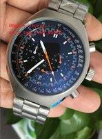 movimientos de cuarzo para relojes. al por mayor-Las ventas de fábrica Reloj de Alta Calidad de Lujo 46mm x 42mm Mark II Co-Axial Acero VK Movimiento de Cuarzo Cronógrafo Reloj de Trabajo Para Hombre Relojes